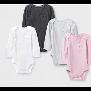 4Pieces Pocket Long Sleeve Bodysuit -Cloud Island